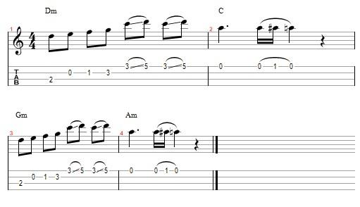 klaxons golden skans tab ukulele
