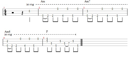 While My Guitar Gently Weeps example 5