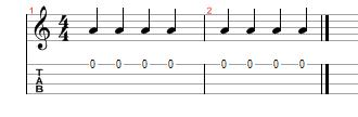 crotchets quarter notes ukulele standard notation