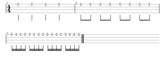 eighth note quaver ukulele standard notation tab