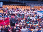 The Mahalo Army: a section of the Kiwileles in action at the second annual New Zealand Ukulele Festival.