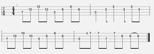 Picture of a heart shaped box tab chords