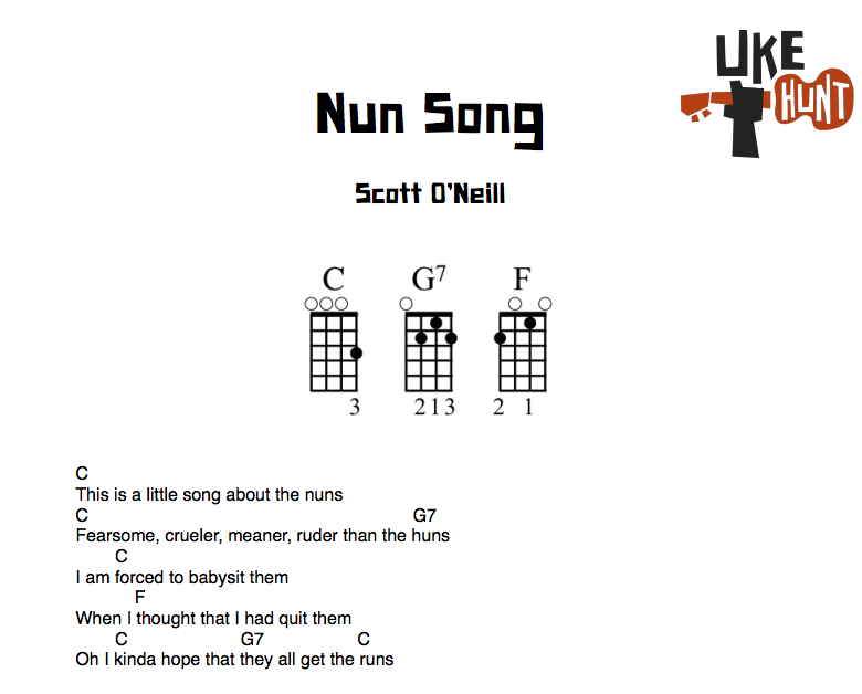 Uke Hunt Cont Scatter The Nuns I Wrote Up The Very Easy