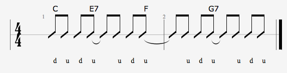 Rythm Slash notation above the staff | MuseScore