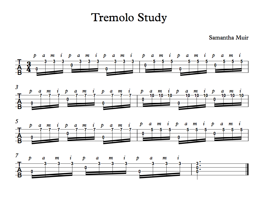 Tremolo Picking with Sam Muir