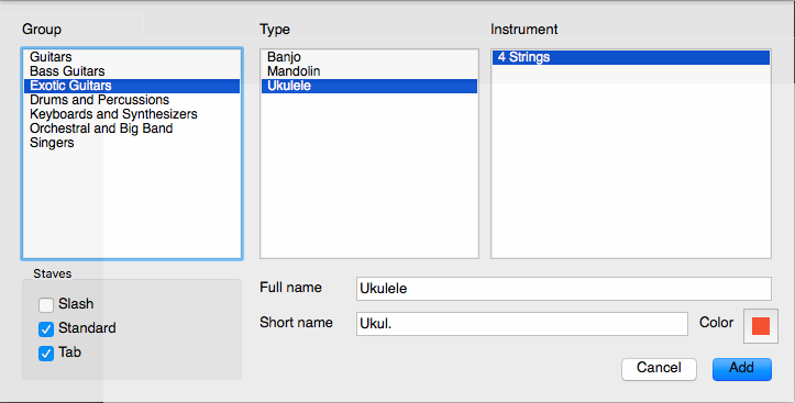 Making Ukulele Tabs With Guitar Pro